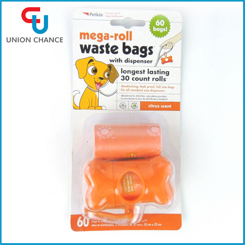 60pcs Pet Garbage Bags With Dispenser Pet Waste Bags Dog Puppy Poop Collector