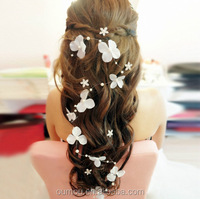 Hot Sale Bridal Headpieces Lace and Pearl Wedding Goody Hair Accessories