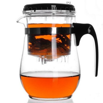 2013 Top selling 500ml Glass Tea Cup/Pot with infuser/Strainer/Filter