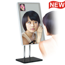 13 inch magic mirror/cosmetics shop/jewelry store table stand advertising player