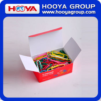 33mm wholesale cheap colorful plastic coated round paper clip