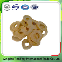 dried apple ring fruit with sugar