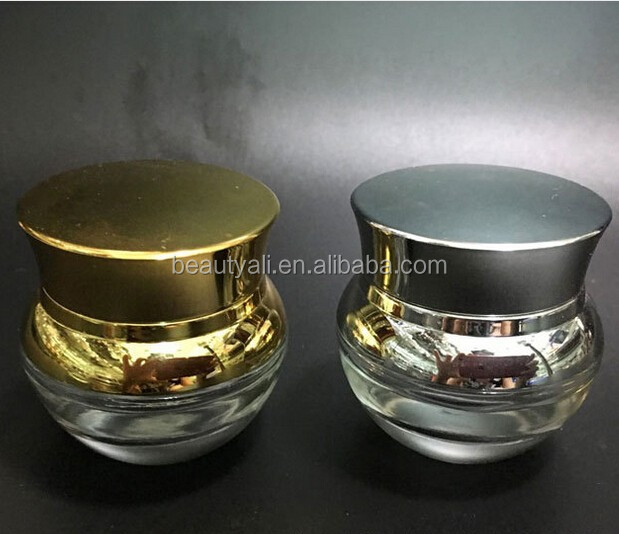 20ml 30ml 50ml Coloured Glass Cosmetic Jar Glass Cream Jars