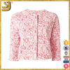 Hot selling three quarter sleeve flowers women cropped jacket spring clothing 2016