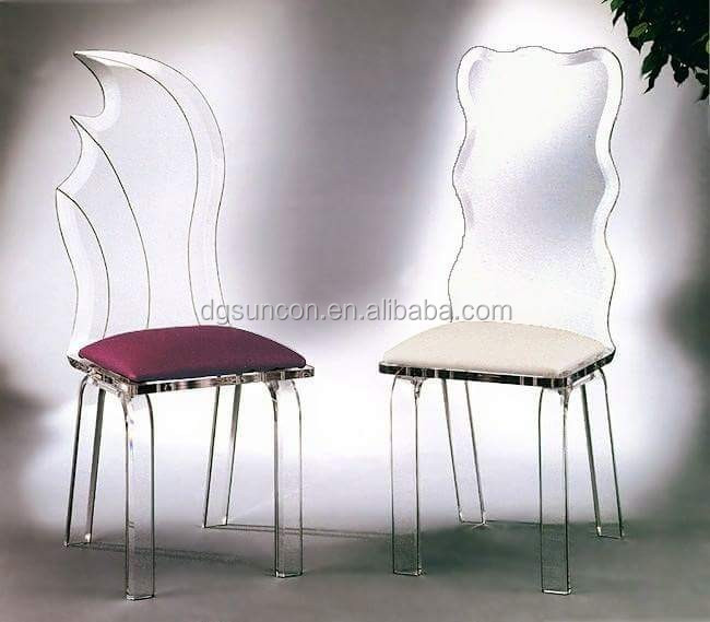 Customized Simple fashion acrylic wedding chair /acrylic desk/clear acrylic chair