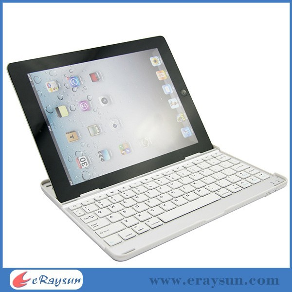 Ultra Slim Bluetooth Wireless Aluminum Keyboard Case Cover for iPad 2, 3,4