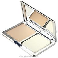 Fresh and oil control silvery square box pressed powder