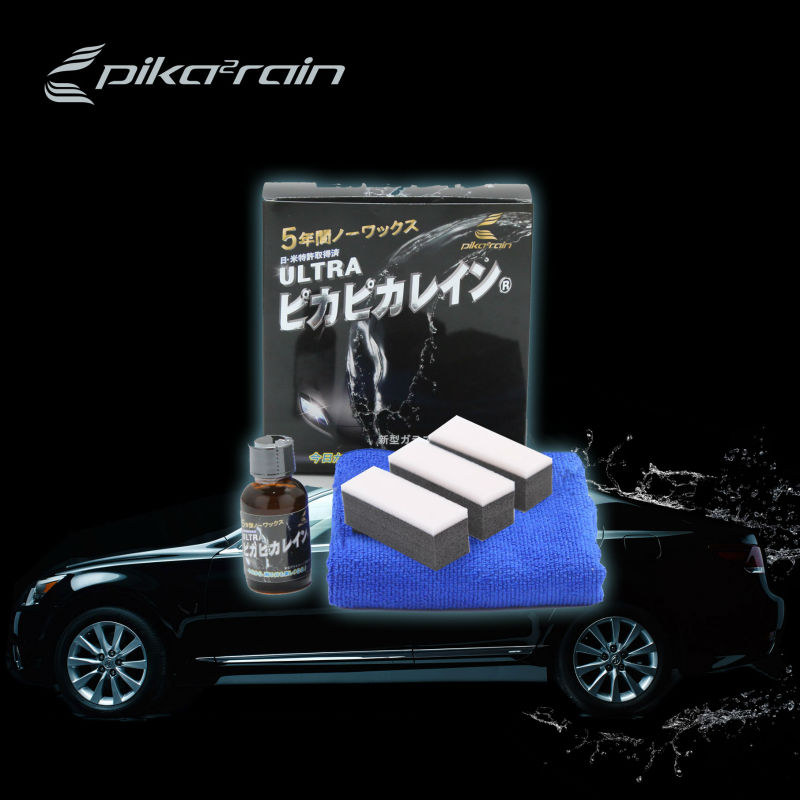 Silicone car sealant , Glass coating , Made in Japan , Ultra Pika Pika Rain
