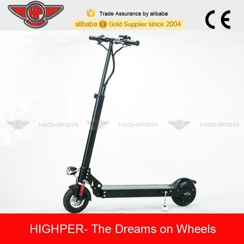 250w brushless motor lithium battery folding mini 2 wheel electric scooter for adults(HP109E-B)