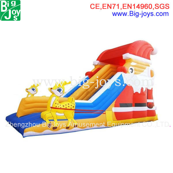 inflatable christmas themed slide merry christmas party products