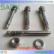 AISI 304/A2 316L/A4 Stainless Steel Wedge Anchor/Through Bolt/Expansion Bolt
