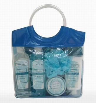 EP PVC bag Hand-held elaborate bath shower gift set