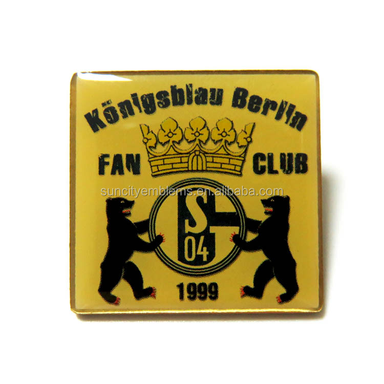 Custom pin badge factory wholesale fan club custom metal print badge pin