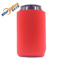 Red neoprene can cooler holder