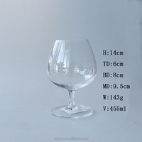 Leadfree handmade brandy snifter French cognac glass