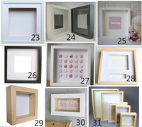 Different shapes and size deep shadow box photo frame
