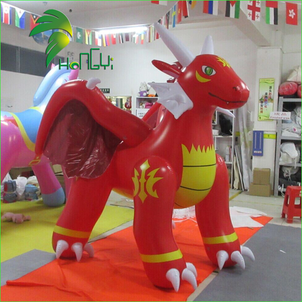 Inflatable  Cartoon Characters  Giant Red Dragon  1