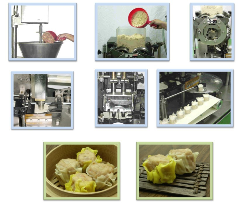 Anko Mixing Making Freezing Extrusion Penang Frozen Dim Sum Machine