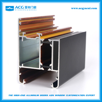 Top selling aluminum extrusion profiles 6063 sereis for sliding doors and windows with fluorine carbon spraying