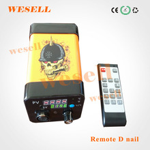 2016 newest innovation dnail with remote and knob, enail dab, enail temperature with control box with heating coil wholesale