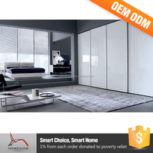 Furniture Laminate Designs 4 Door Bedroom Wardrobe Sliding Mirror Doors