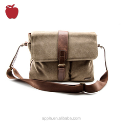 Factory Supply Custom Men'S Vintage Canvas Messenger Bag For Men