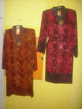Paris Malaysian Dress with Bross in Batik motif