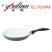 Aluminum pressed ceramic nonstick function kitchenware fry pan with a stylish handle