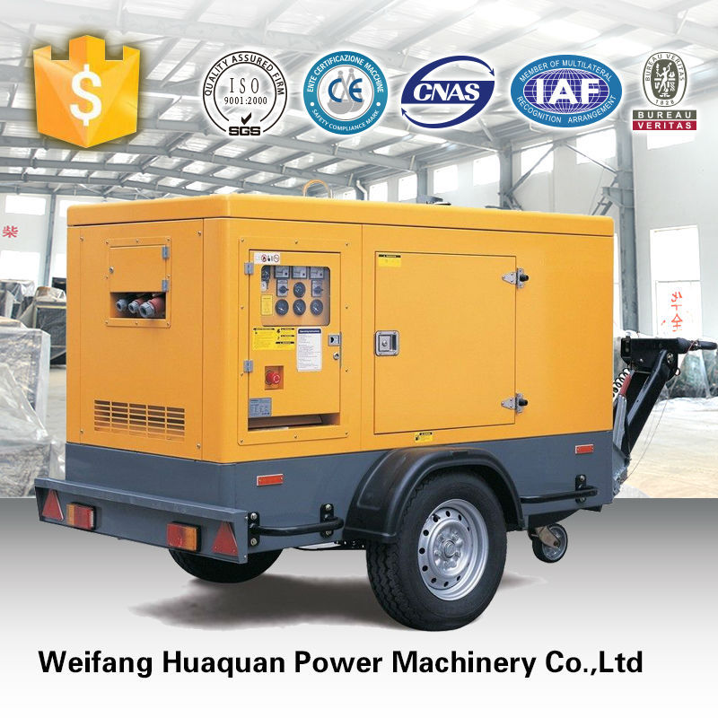 Portable mobile soundproof genset trailer 40kw