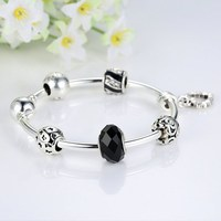 latest design vogue jewellery bangle with black charm