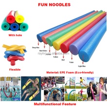 Multifunctional Deluxe Flexible Colorful EPE Foam Pool water fun noodle as Swimming pool Toys floats Equipment for kids adult