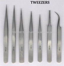 Professional Supplier Eyelash Extension Tweezers/ X type/Straight/Curved/ Angled