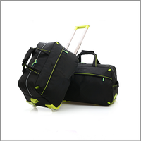 2015 BaoDing colorful soft foldable travel bag in wheels