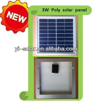 high efficiency 3w poly solar panel