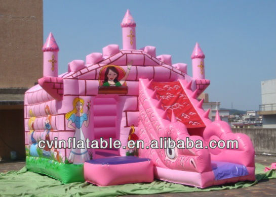 mini / giant inflatable fairy princess jumper slide combo for kids