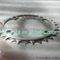 Titanium bicycle chain ring, custom titanium bike chain ring, Chain ring teeth titanium bikes