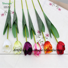 SJNT09 Best decorative artificial bouquet tulip, bunch flowers made in china