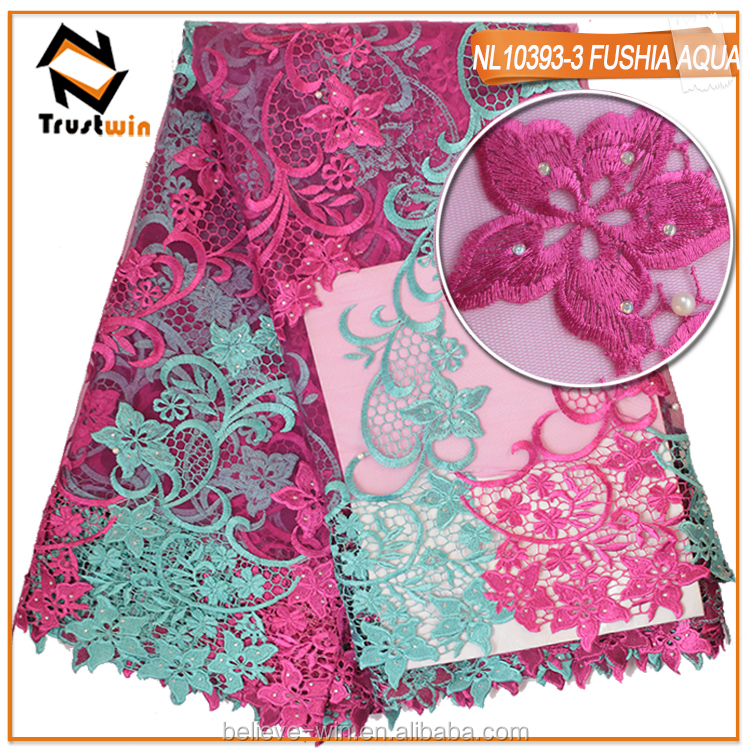 Popular tulle lace fabric african french net