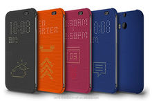 Slim Dot View Design Plastic Back Cover Flip Case For HTC One M8