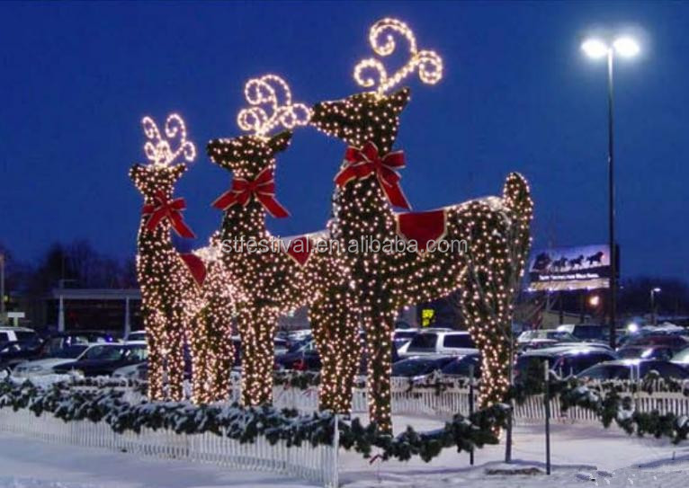 Christmas decorative outdoor led light giant reindeer