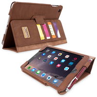 Snugg case for iPad mini 3 Card Slot Executive Case in Distressed Brown Leather