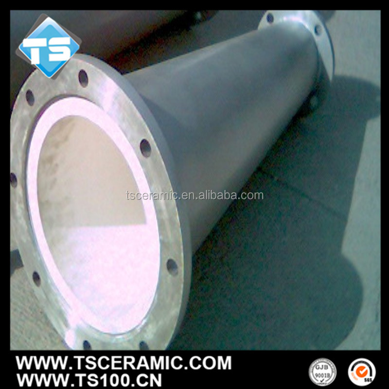 wear proof alumina ceramic tapered pipe for whirlcone lining
