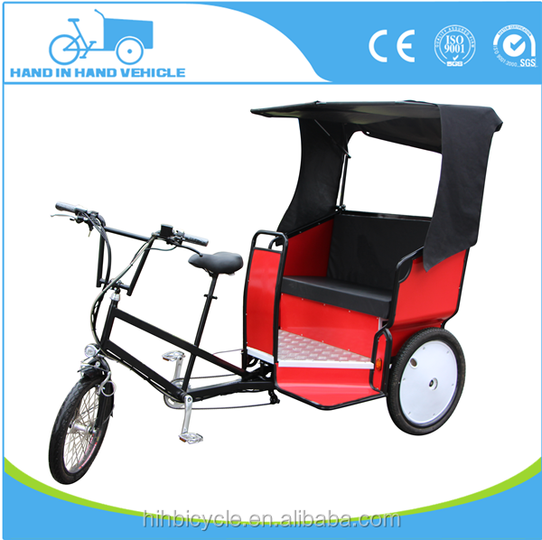 CE approved pedal assisted electric tricycle taxi battery rickshaw