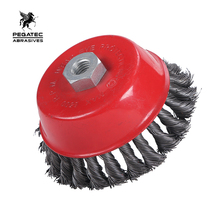 grinding tools high quality abrasive tools Twisted knot cup brush