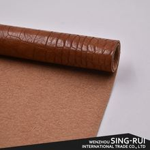 Most popular special design brown leather sofa handbag making leather