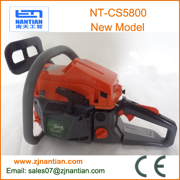 hot sale new model chainsaw 5800 petrol saw tree cutter with CE certification