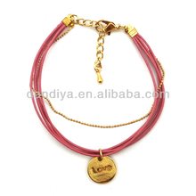 Restore leather female bracelet with love gift excellent quality