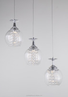 new design led ball glass pendant lamp for home decoration