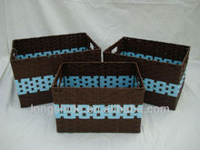 recycled decorative handmade woven baskets wholesale