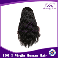 Hot Styling Unprocessed Human Indian Long Hair 100 Full Lace Wig For Black Women